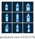 Plastic water bottle vector blank brochure nature blue clean liquid aqua fluid blank template 42351776