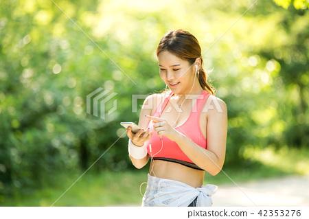 여성, 젊은여자, 스포츠웨어 42353276
