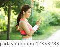 여성, 젊은여자, 스포츠웨어 42353283