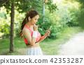 여성, 젊은여자, 스포츠웨어 42353287