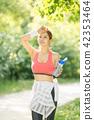 여성, 젊은여자, 운동, 스포츠, 음료 42353464