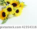 해바라기의 꽃다발 42354316