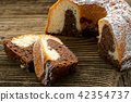 Traditional homemade marble cake.  42354737