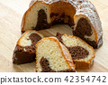 Traditional homemade marble cake.  42354742