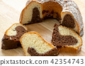 Traditional homemade marble cake.  42354743