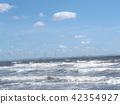 波浪 白色 藍天 42354927