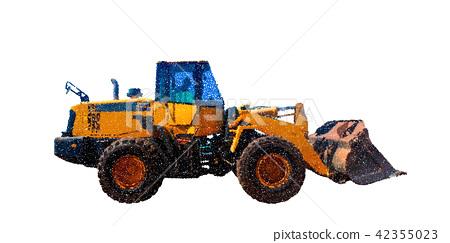 Bulldozer. Isolated on white background. Vector 42355023