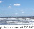 波浪 白色 藍天 42355167
