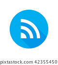 Wifi icon vector Flat network sign or symbol. 42355450