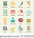accounting elements, vector infographic icons 42356009