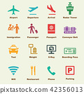 airport elements, vector infographic icons 42356013