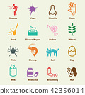 allergies elements, vector infographic icons 42356014