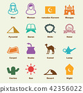 arabian elements, vector infographic icons 42356022