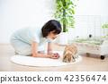 애완 동물 여성 라이프 스타일 42356474