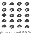 Computer cloud related gray icons 42356669