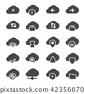Vector isolated cloud technologies icons set 42356670