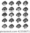 Vector Set of Computer Cloud Related Icons 42356671