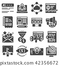 Vector internet marketing icon set 42356672