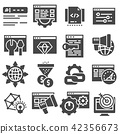 SEO optimization and marketing vector icons set 42356673