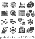 Data analytic and social network icons set 42356676