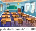 School or university classroom cartoon 42360389
