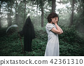 forest, woman, death 42361310