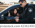 car, policeman, vehicle 42361493
