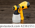 Electric paint spray gun, 3D rendering 42361551