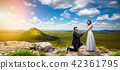 Groom makes the bride a marriage proposal 42361795