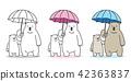 bear, vector, umbrella 42363837