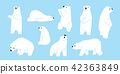 Bear polar bear teddy vector icon character 42363849