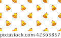 Christmas Bell seamless vector pattern Gold 42363857
