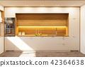 kitchen, interior, white 42364638