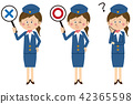 Pop bus guide or cabin attendant is ○ ×? 42365598