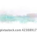 Abstract Building in the city watercolor painting  42368917