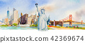 Famous landmarks in USA. 42369674