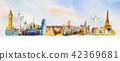 landmark watercolor monument 42369681