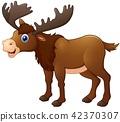 Illustration of Cute moose cartoon 42370307
