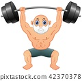 Old man weightlifting 42370378