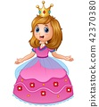 Beautiful princess in pink dress 42370380
