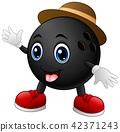ball bowling character 42371243