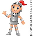 Vector illustration of Cartoon knight boy 42371314