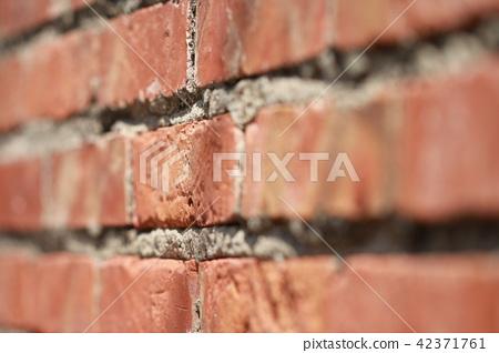 紅磚牆.磚塊的特寫,可作為背景設計使用 42371761