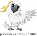 Cute parrot cockatoo cartoon posing 42371807