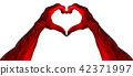 Red Demon Heart Shape Hands 42371997