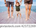 beach, child, family 42372269