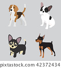 dog set vector 42372434