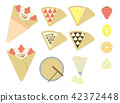 Crepe color illustration set 42372448
