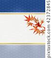 秋葉日式秋葉狩獵日本模式楓葉框架方格的圖案 42372845