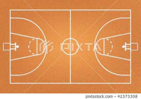 Fabric basketball court or brown frieze carpet 42373308